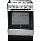 Indesit Electric Cooker with Electric Grill and Gas Hob, I6G52(X)/UK - Stainless steel