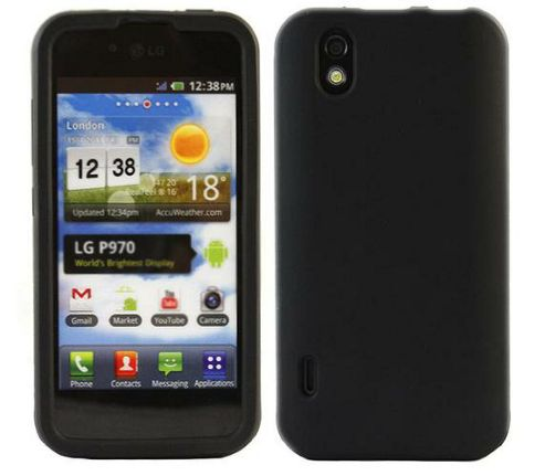 SoftSkin Black Silicone Case - LG P970 Optimus Black Schwarz