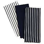Tesco Butchers Stripe Tea Towel 3 pack