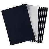 Tesco Butchers Stripe Tea Towel, 3 Pack