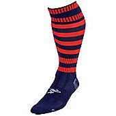 Precision Training Hooped Pro Football Socks - Navy