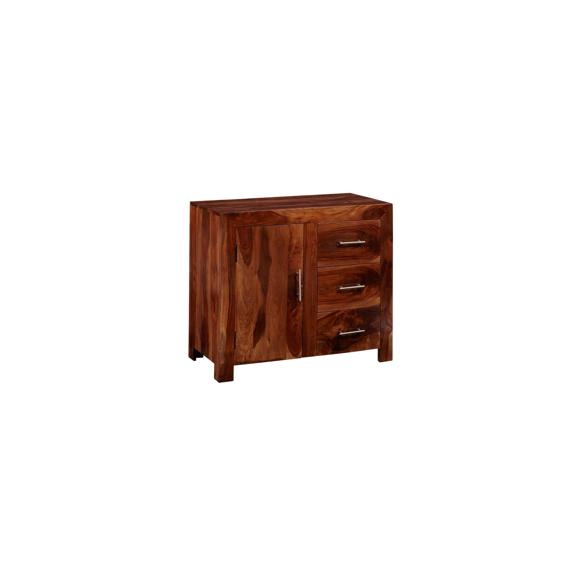Indian Hub Cube Sheesham 88cm Sideboard at Tesco Direct