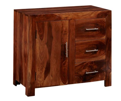 Indian Hub Cube Sheesham 88cm Sideboard