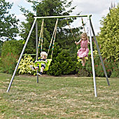 TP Toys Metal Double Swing Frame with Early Fun & Lime Green Swing Seat