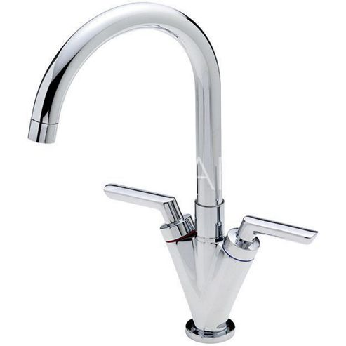 Sagittarius Contract Mono Kitchen Sink Mixer Tap with Swivel Spout and Lever Handles
