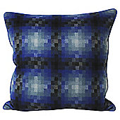 Pixelated Cushion Blue