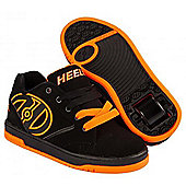 Heelys Propel 2.0 Black/Orange Kids Heely Shoe - Orange