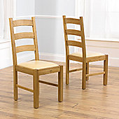 Mark Harris Furniture Valencia Oak Dining Chair (Set of 2) - Brown