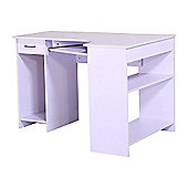 Homcom Computer Pc Desk Workstation With Drawer