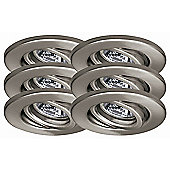 Paulmann Quality Line Six Swiveling Downlight in Brushed Iron