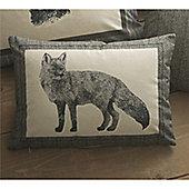 Dreams n Drapes Connolly Check Charcoal Cushion Cover - 38x28cm