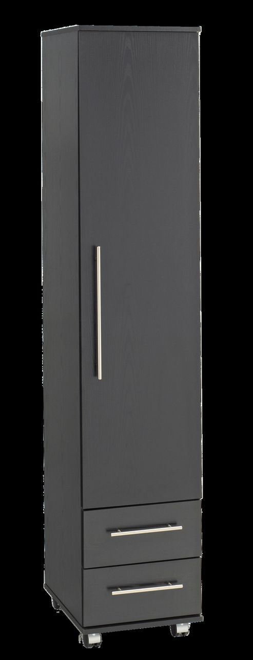 Ideal Furniture Bobby 1 Door Wardrobe - Black