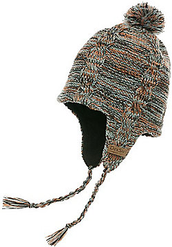 DexShell Earflap Beanie Heather Hat - Maroon - Multi