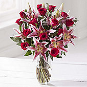 Cerise Rose & Lily Large Bouquet
