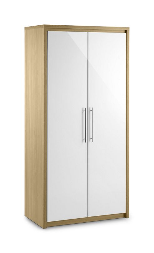 Julian Bowen Stockholm 2 Door Hanging Wardrobe in oak