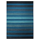 Esprit Cross Walk Turquoise Contemporary Rug - 90cm x 160cm