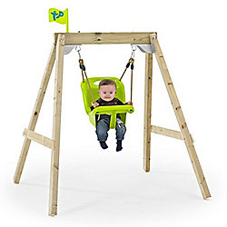 """""""TP New Forest Acorn """"""""Growable"""""""" Swing Frame with Early Fun Baby Swing Seat and Deluxe Swing Seat"""""""