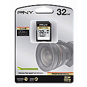 PNY 32GB Professional Class 10 SDHC Flash Card