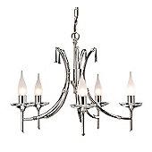 Elstead Lighting Brightwell Five Light Candle Chandelier