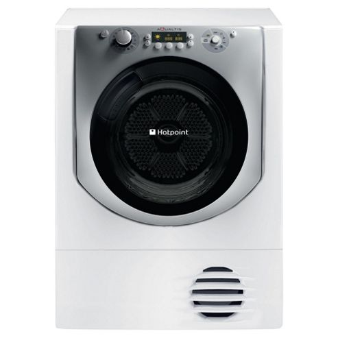 Hotpoint AQC9BF7E1 Condenser Tumble Dryer, 9Kg Load, B Energy Rating, White