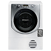 Hotpoint Aqualtis AQC9BF7E1 Freestanding Condenser Tumble Dryer, 9Kg Load, B Energy Rating, White