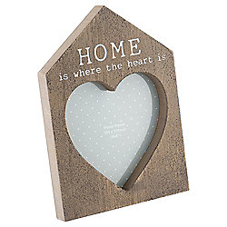 Home Is Where The Heart Is Frame 4 x 4""