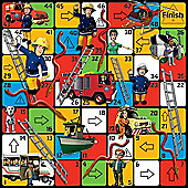 Jumbo Games Fireman Sam Hoses Ladders Giant Floor Game 80cm 80cm Jumbo