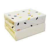 2 Pack Cot Bed Jersey Fitted Sheets (Leaves) 70cm x 142cm