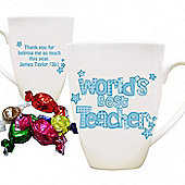 Personalised Blue World's Best Teacher Mug