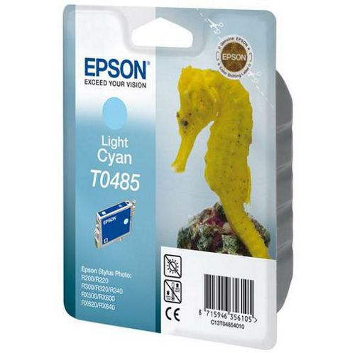 Epson T0485 Light Cyan Ink Cartridge for Stylus Photo R200/R300/R320/R340/RX500/RX600