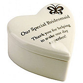 Special Bridesmaid Porcelain Heart Pot