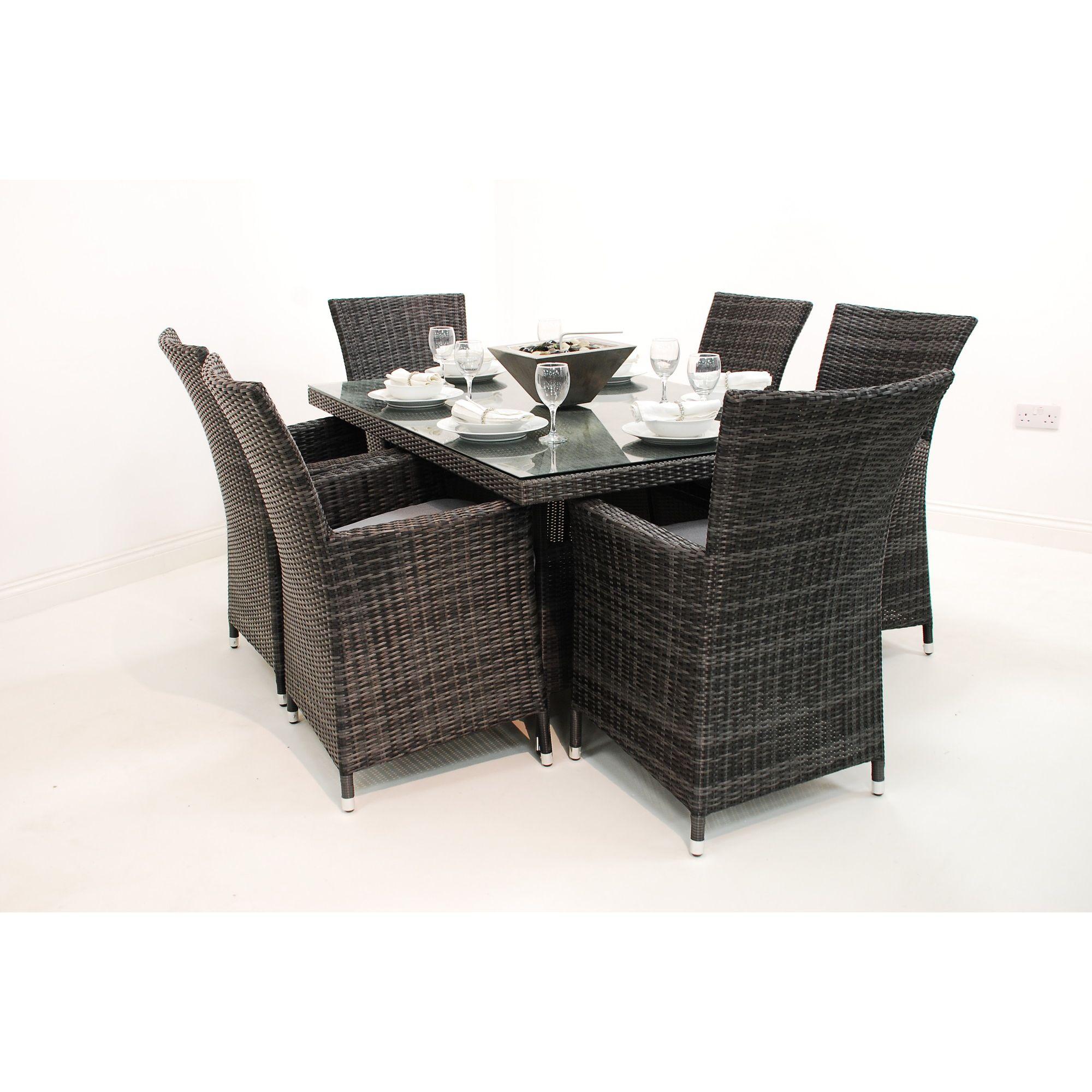 maze rattan la 4 seater square table set