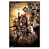 The Hobbit Gloss Black Framed Character Collage Poster