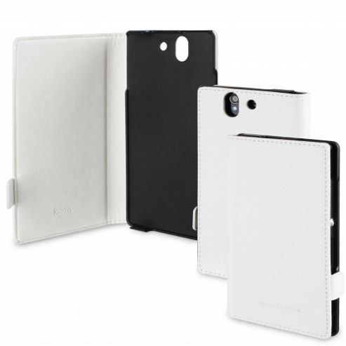Sony Leather Flip Case for Xperia Z by Roxfit - White