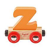 Bigjigs Rail Rail Name Letter Z (Orange)
