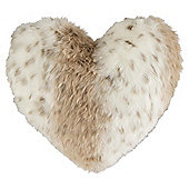 Faux Fur Heart Cushion