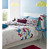 Catherine Lansfield Home Designer Collection Butterfly Fusion Double Bed Duvet Cover Set Multi