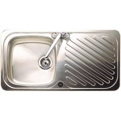 Astracast  Ruby Single Bowl Inset Sink and Drainer in Satin Steel