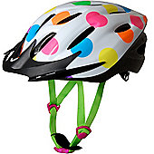 Kiddimoto Cycle Helmet - Neon Dotty - Small