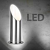 LED Uplighter Floor Lamp in Brushed Chrome
