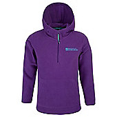 Mountain Warehouse Camber Kids Microfleece Hoodie - Purple