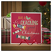Tesco Fun Jumper And Cracker Christmas Cards, 10 Pack