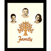 Large Family Photo Tree of Life Picture Frame Black 50x40cm (3)