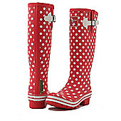 Evercreatures Ladies Evergreen Wellies White Polka Dots 4
