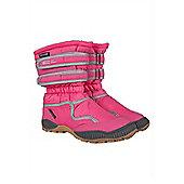 Splish Kids Childrens Junior Girls Boys Ski Snowboard Warm Winter Snowboot - Pink