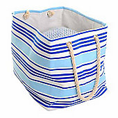 Canvas Soft Storage Large Rectangle - Blue Stripe