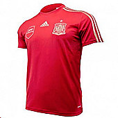 2014-15 Spain Adidas Home Replica Tee - Red