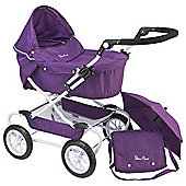 Silver Cross Classic Deluxe Doll's Pram - Damson