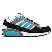 adidas NEO Run9Tis Mens Trainer Shoe White/Blue - White
