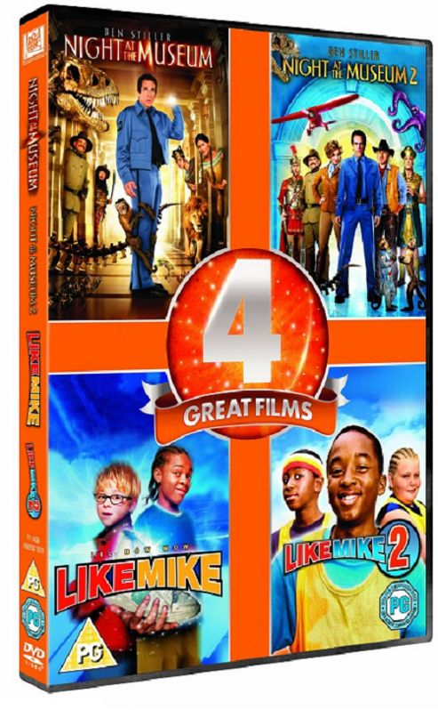Night At The Museum 1-2 / Like Mike 1-2 Four Pack